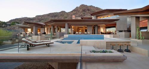 Maison contemporaine par Swaback Partners and David Michael Miller ...