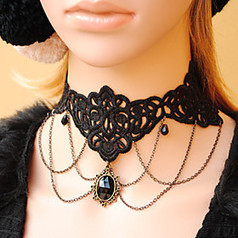Women's Gothic Layered Black Lace Black Crystal Necklace | Product We Love | Scoop.it