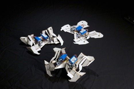 This Piece Of Paper Folds Itself Into A Robot | Bring back UK Design & Technology | Scoop.it