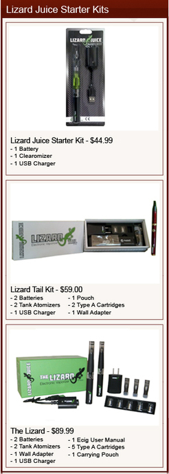 Lizard Juice Ecig Review - Lizard Juice E-Juice, Starter Kits and More | Ecig Reviews | Ecig News | Scoop.it