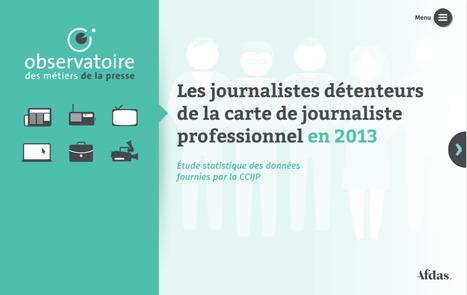 Rapport 2013 : les journalistes détenteurs de la carte (par @We_Do_Data) | divers | Scoop.it