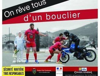 Le buzz inattendu d'une image de sécurité routière avec des joueurs du RCT | La moto au quotidien | Scoop.it