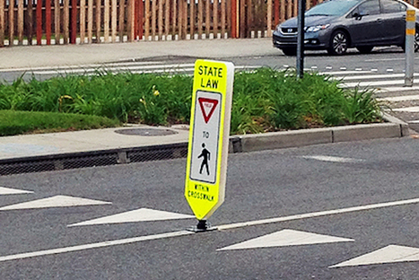 Those Intense West Hollywood Crosswalks Signs Are Working But, With a Catch | Los Angeles Accident Attorney News | Scoop.it