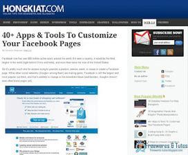 40 applications et outils pour personnaliser sa page Facebook | Facebook pour les entreprises | Scoop.it