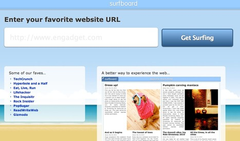 Surfboard // Experience The Web In A Flippable Newspaper-Like Format | Daily Magazine | Scoop.it