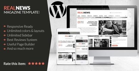 Realnews - Stylish and Responsive Magazine Theme - Wordpress Themes | Themes4Free | Scoop.it