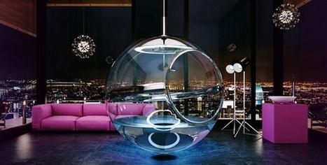 Un créateur invente une baignoire design suspendue | Déco & tendances contemporaines | Scoop.it