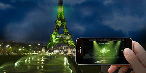 A l'heure de la COP, la tour Eiffel se transforme en forêt virtuelle | 1 Heart 1 Tree - COP21 | Scoop.it