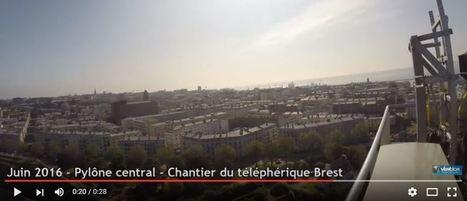 Téléphérique de Brest.  Le panorama depuis le haut du pylône [Vidéo] | transports par cable - tram aérien | Scoop.it