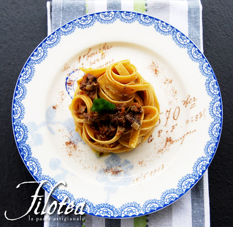 Chestnuts Fettuccine with chicken livers ragù and orange | Le Marche and Food | Scoop.it