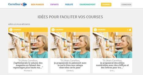 Carrefour fait plancher ses clients pour trouver des idées | Mass marketing innovations | Scoop.it