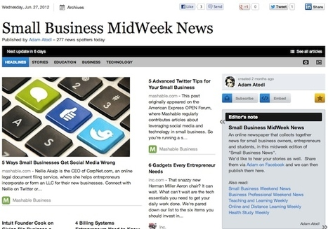 """June 27 - """"Small Business MidWeek News"""" is out 