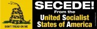 SECEDE! from the United Socialist States of America Bumper Sticker | News You Can Use - NO PINKSLIME | Scoop.it