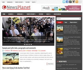 NewsPlanet Blogger Template | Blogger Templates | Scoop.it