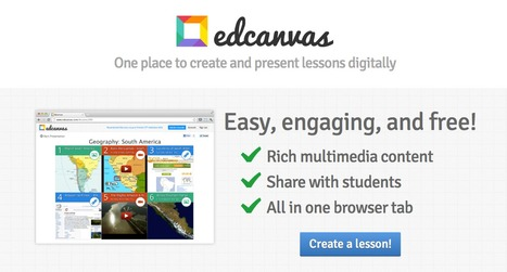 Edcanvas - The one place for teachers to create and deliver lessons digitally | It's Time! | Scoop.it