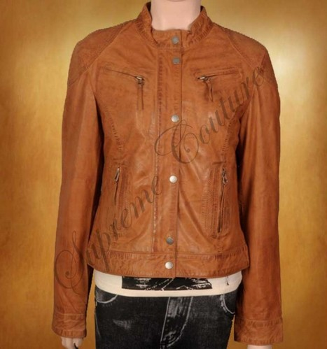 A classic Women Teen style Leather Jacket is decorated active exterior. | WOMEN JACKETS | Scoop.it