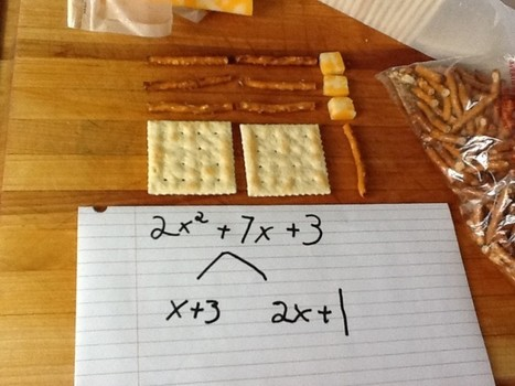 Factoring Polynomials with Cheese and Crackers » TeacherDad: fun stuff with my boy | Solving Equations by Factoring | Scoop.it