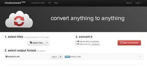 CloudConvert nos permite realizar conversiones de archivos tanto desde escritorio como desde móviles | MECIX | Scoop.it