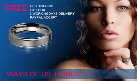 Tungsten Rings - Men's Tungsten Carbide Rings,Titanium Rings,Tungsten Wedding Bands | Grooved Ceramic Rings | Scoop.it