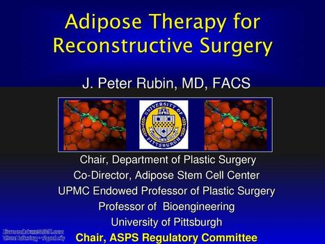 Adipose Therapy for Reconstructive Surgery, Medical | wesrch | Scoop.it