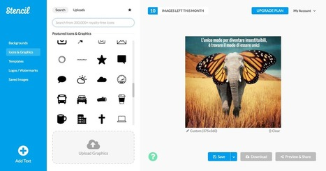 Create picture quotes, promos and ads easily: Stencil :: Robin Good | On education | Scoop.it