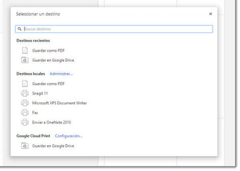 Guardar páginas web como PDF en nuestro equipo o Google Drive desde Chrome | Searching & sharing | Scoop.it