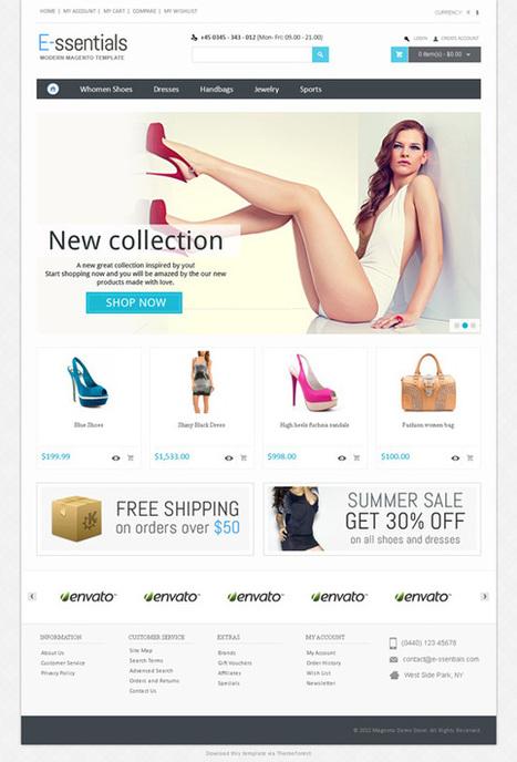 E-ssentials, Magento Retina Responsive Shoes Theme | Premium Download | Premium Magento Themes | Scoop.it