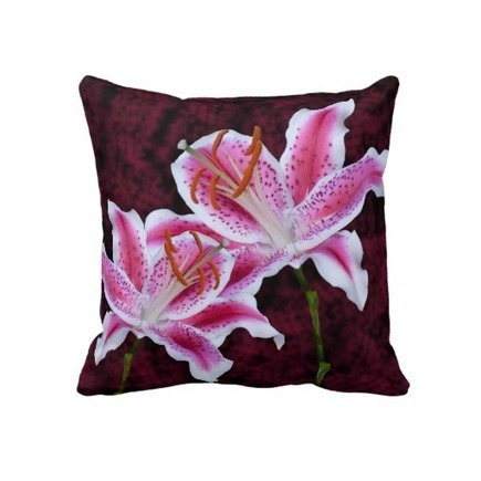 Pink and White Stargazer Lily Close Up Photograph Pillow | Z Photography | Scoop.it