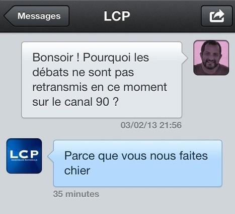 Quand @LCPan, chaîne de service public, insulte en catimini sur Twitter | L'Observatoire des médias | Communiquer sur le Web | Scoop.it