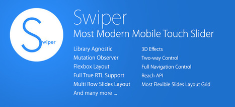 Swiper - Most Modern Mobile Touch Slider | js bucket | Scoop.it
