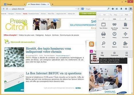 Firefox dévoile enfin son interface Australis | Geeks | Scoop.it