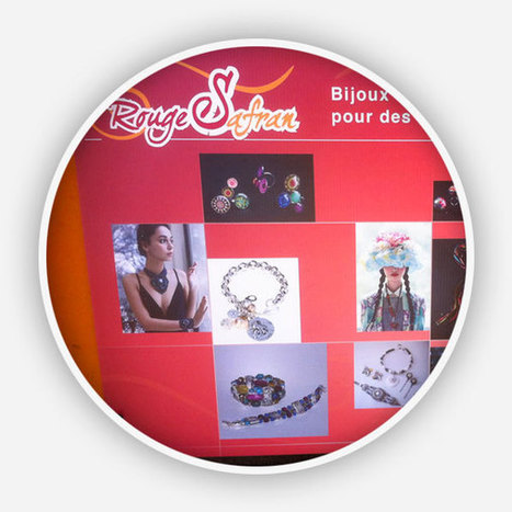 Création et pose adhésifs vitrine de la boutique Rouge Safran - Agence Point Com Perpignan | Actu de la Com' et du Web | Scoop.it
