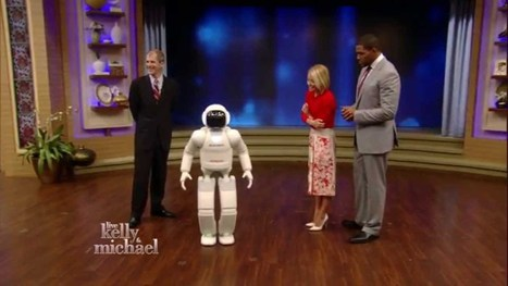 ASIMO on LIVE with Kelly and Michael - YouTube | Une nouvelle civilisation de Robots | Scoop.it
