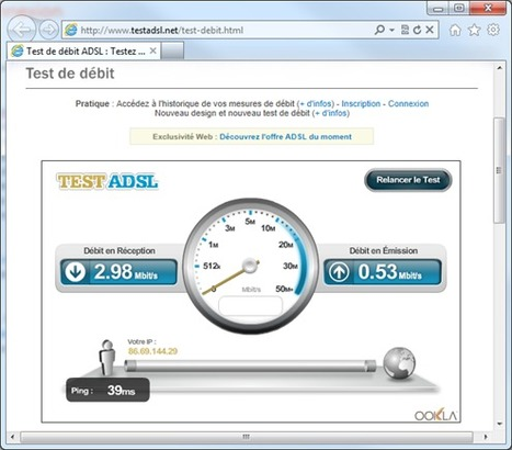Quelle est la vitesse réelle de ma connexion ADSL ? | Time to Learn | Scoop.it