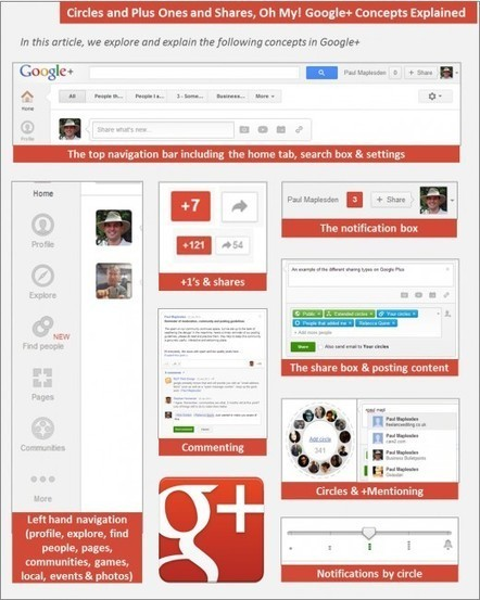 Circles and Plus Ones and Shares - Google+ Concepts Explained | Time to Learn | Scoop.it