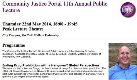 Public Lecture: Ending Drug Prohibition with a Hangover? | Drugs, Society, Human Rights & Justice | Scoop.it