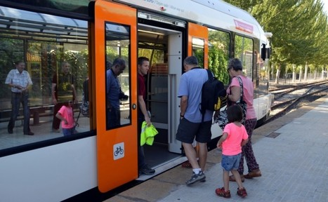 Satisfacció entre els usuaris el primer dia de funcionament del nou tren de la Pobla | #territori | Scoop.it