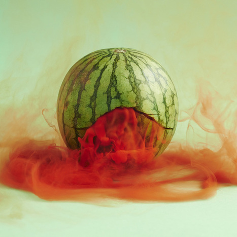 maciek jasik spills a mysterious, multicolored mist from punctured produce | What's new in Visual Communication? | Scoop.it