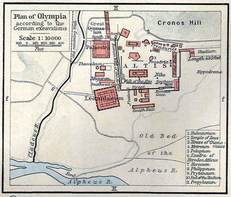 La Antigua Ciudad Griega de Olimpia [The ancient Greek city of Olympia] ~ La Historia con Mapas | Mitología | Scoop.it