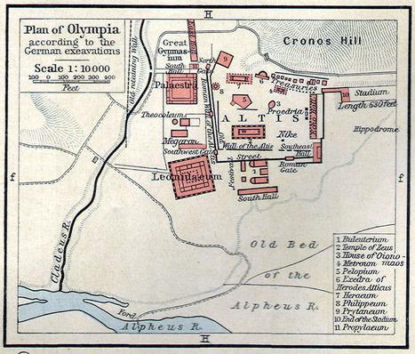 La Antigua Ciudad Griega de Olimpia [The ancient Greek city of Olympia] ~ La Historia con Mapas   Mitología   Scoop.it