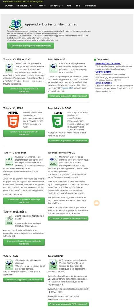 Apprendre comment créer un site web [Tutoriaux] | Créer un site ou un blog | Scoop.it