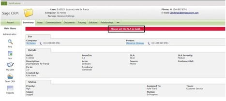 Information and Error Message feature in Sage CRM v7.2 | Sage CRM - Tips, Tricks and Components | CRM Services helping companies linked to customers in a better way | Scoop.it