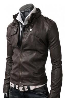 Button Pocket Leather Jacket Dark Brown | blackfridaydealsa | Scoop.it