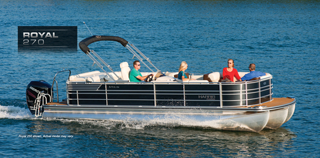 Royal 270: Harris FloteBote | Family Pontoon Boats | Pontoon Party Boat : 2013 | Pontoon Boats | Scoop.it