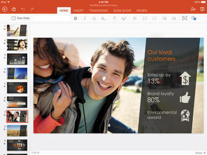 Microsoft PowerPoint for iPad | Conectivismo en red | Scoop.it
