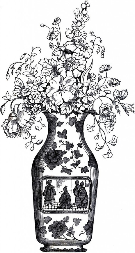 Lovely Vintage Floral Vase! - The Graphics Fairy   Decoupage   Scoop.it