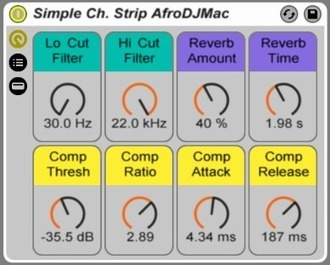 Free Ableton Live Pack #75: Simple Channel Strip | Music Instrument and Pro Audio Product News and Reviews for Musicians, Producers and Sound Engineers | Scoop.it