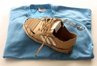 Les chaussures en carton de mark o - Fabriquer une chaussure en carton ...