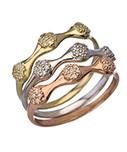 Seraphina Triple CZ Stacking Rings Gold Plated 7 | Online Store | Scoop.it