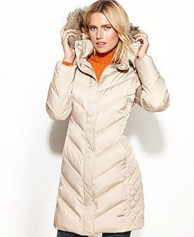Kenneth Cole Reaction Coat, Hooded Faux-Fur-Trim Quilted Puffer - Coats - Women - Macy's   Nice Clothes Online   Scoop.it
